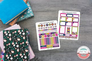 Book Worm Basics Variety Planner Stickers Pack