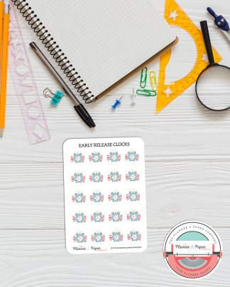 Early Release Clock Planner Stickers