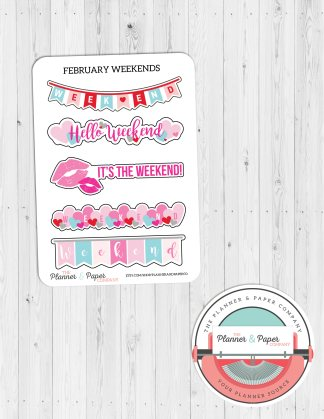 February Weekend Planner Stickers