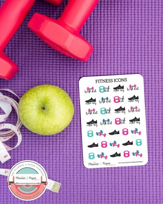 Fitness Workout Icon Planner Stickers