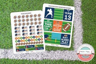 Football Planner Sticker Kit