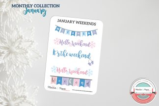 January Weekend Planner Stickers