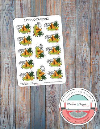 Let's Go Camping! – Planner Stickers
