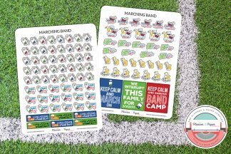 Marching Band Planner Sticker Kit