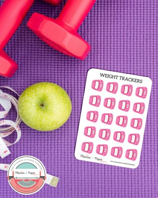 Weight Loss Tracking Stickers Small Sheet