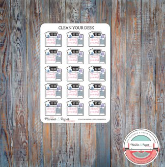 Clean Your Desk Planner Stickers