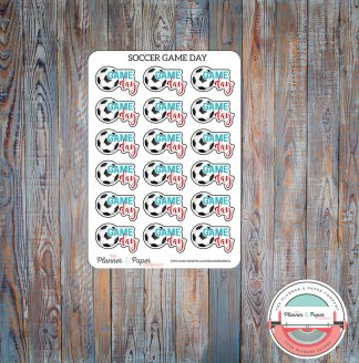 Soccer Game Day – Planner Stickers Small Sheet
