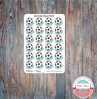 Soccer Practice – Planner Stickers Small Sheet