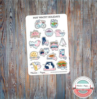 May Wacky Holiday Planner Stickers
