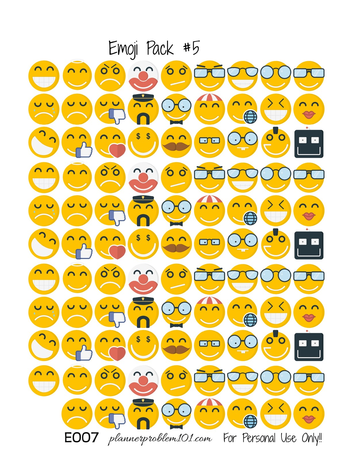 Best Printable Emoji Stickers