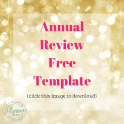 annual review template entrepreneur