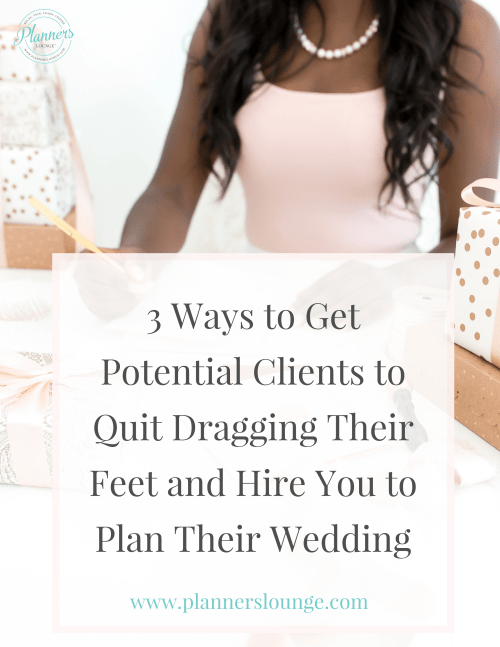 How to get hired as a wedding planner