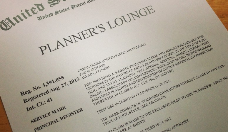 Planner's Lounge is Officially Trademarked!
