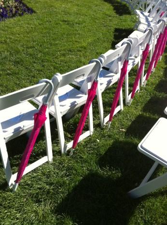 chair umbrellas wedding