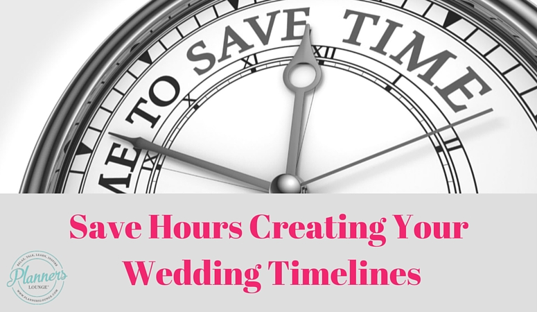how to save hours on your wedding day timelines