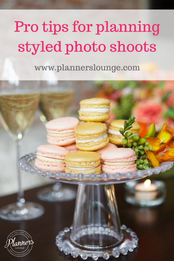 Advice for wedding and event planners for planning and coordinating a styled photo shoot