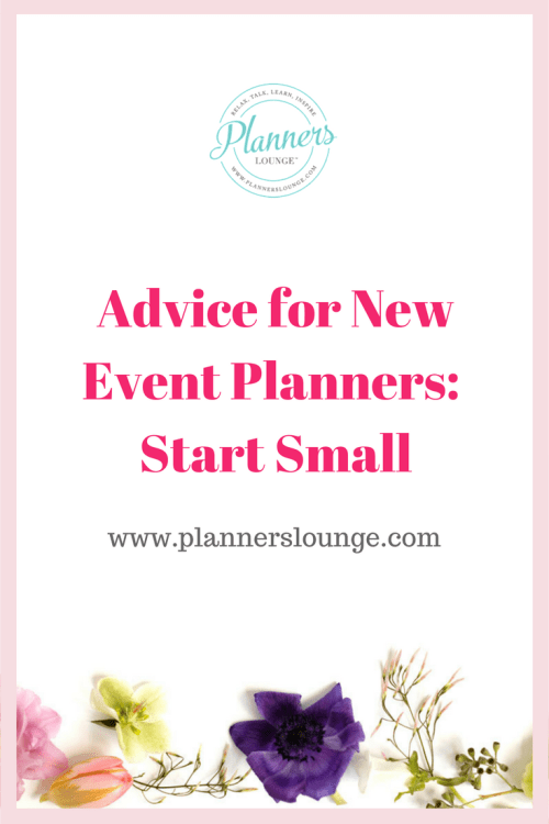 Advice for new event planners