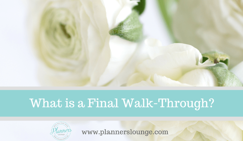 What is a Final Walk-Through?