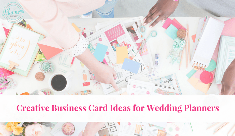 Wedding Planner Business Card Ideas