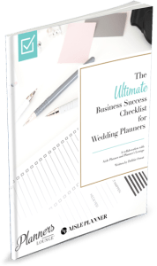 The ultimate business success checklist guide for wedding and event planners via Planner's Lounge.