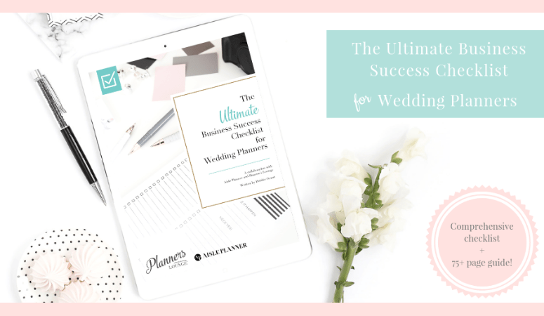The Ultimate Business Success Checklist for Wedding Planners