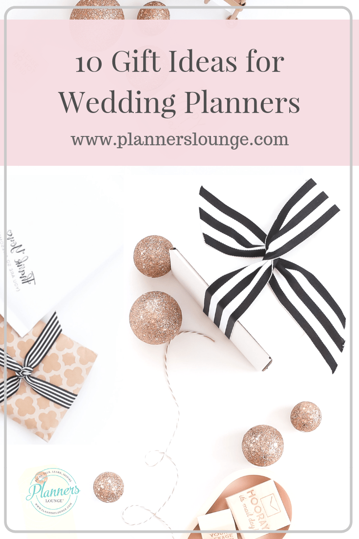 10 useful gift ideas for wedding planners