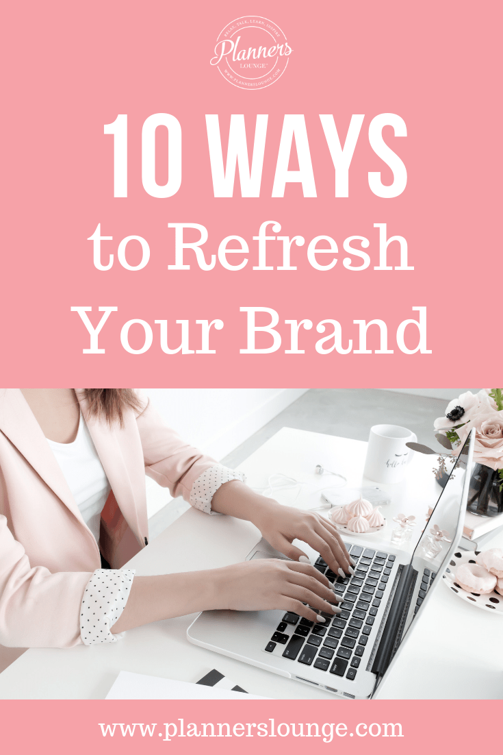 Is your wedding planning business in need a brand and business refresh but you don\'t have the money or time to invest in a major branding project right now? Click through to this article from Planner\'s Lounge with 10 quick, free, and easy ways to refresh your wedding planner business brand!