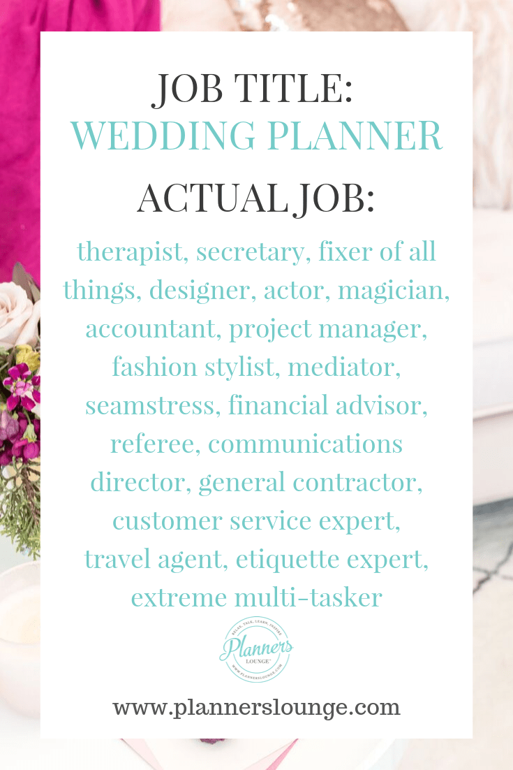 There are so many details and tasks that wedding planners do as part of their job. While a client may hire a \