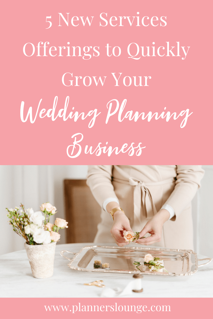 Five New Income Streams for Your Wedding Planning Business