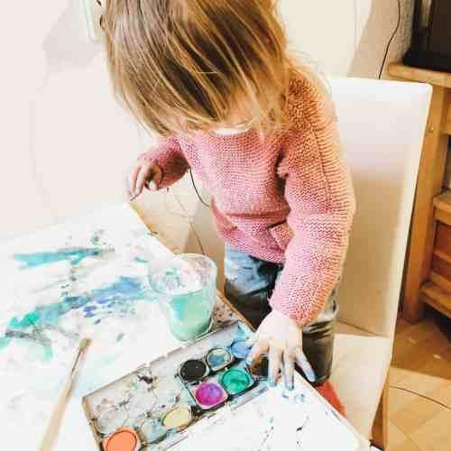 Wasserfarben, malen, Kinder beschäftigen, planningmathilda