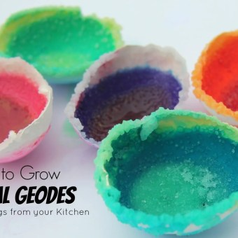 How to grow your own Crystal Geodes with 4 simple kitchen ingredients