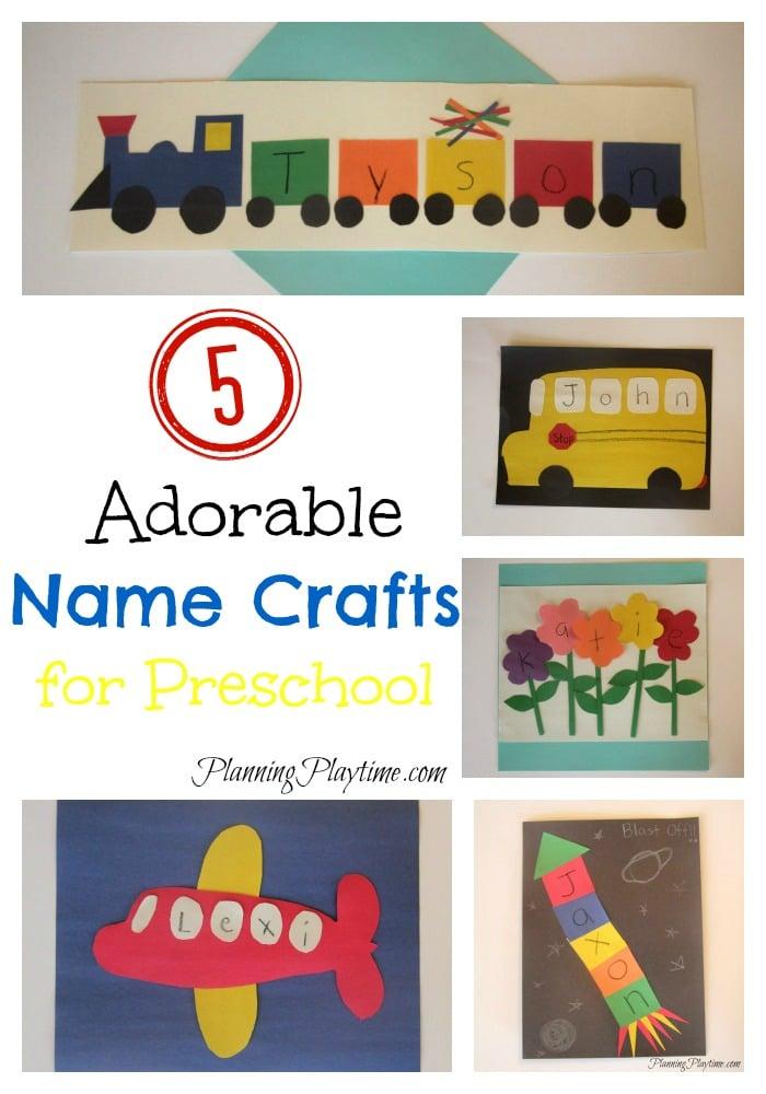 5 Preschool Name Crafts for Kids option 2