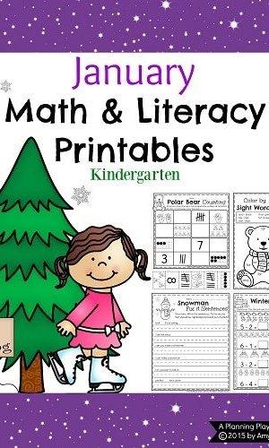 Kindergarten Math And Literacy Worksheets For December Planning