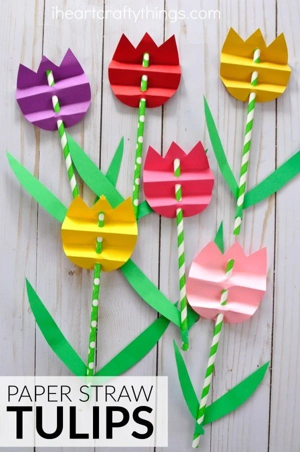 Paper Flowers Mother's Day Craft for Kids