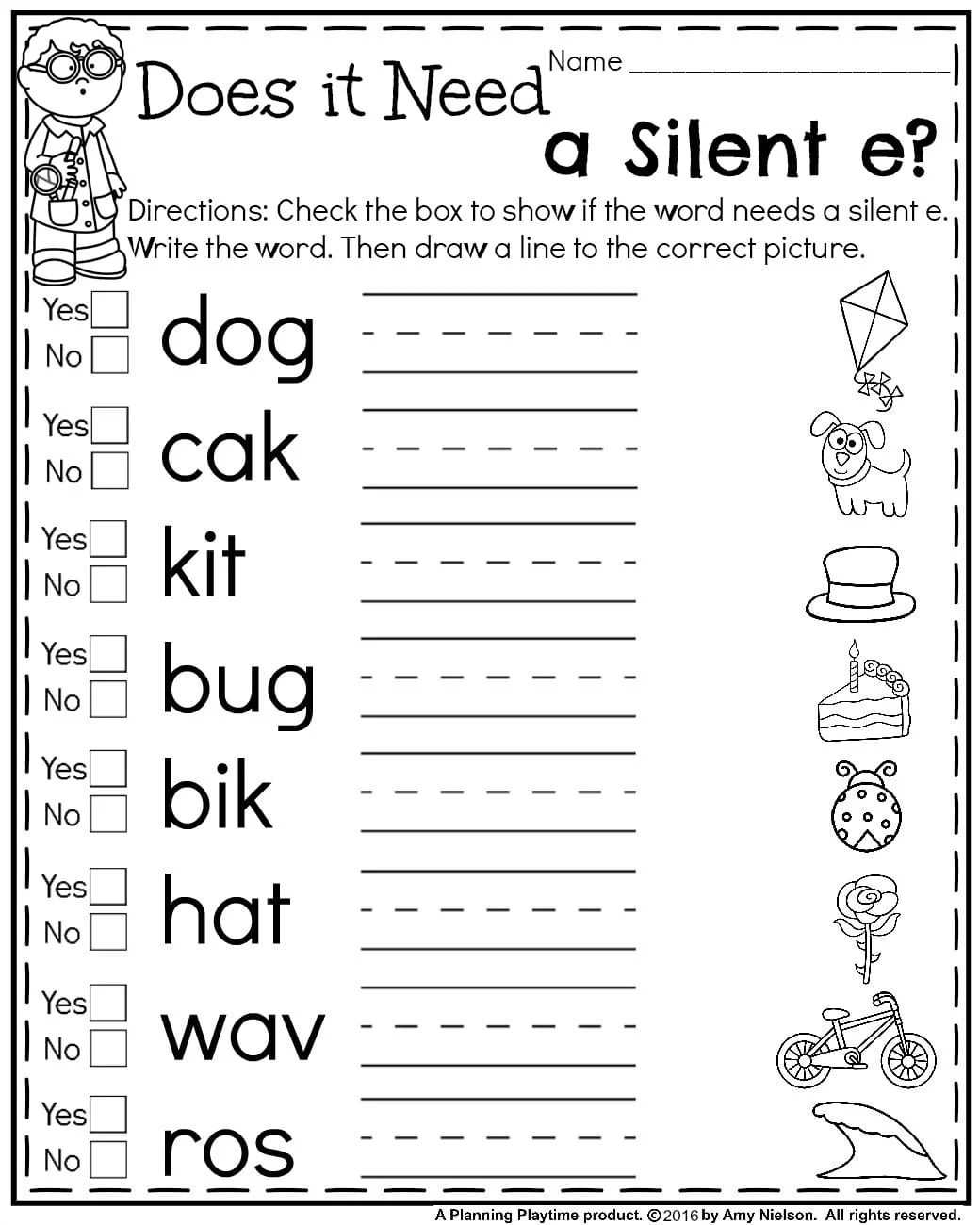 Fun First Grade Fraction Worksheet