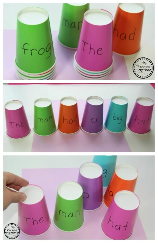 Build a Sentence Reading activity for kids