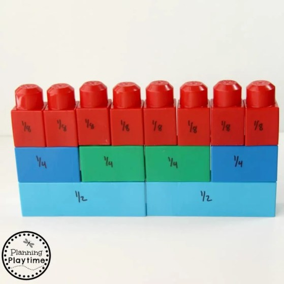 Lego Fractions Activity for Kids. So fun!