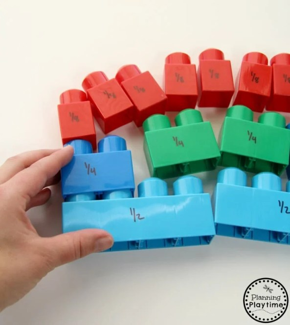 Lego Fractions Activity for Kids