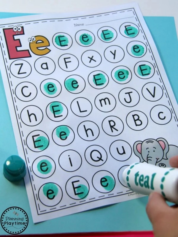 Fun Letter Worksheets for Preschool and Kindergarten.