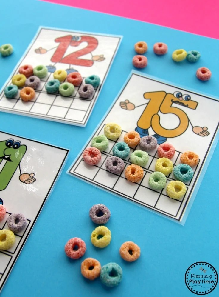 Numbers 11 20 Games   Planning Playtime Fun Counting Activities for Kindergarten and Preschool