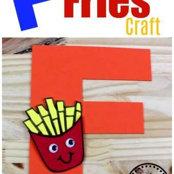 Letter F Craft for Preschool - F is for Fries #lettercraft #alphabetcraft #planningplaytime #preschoolcrafts