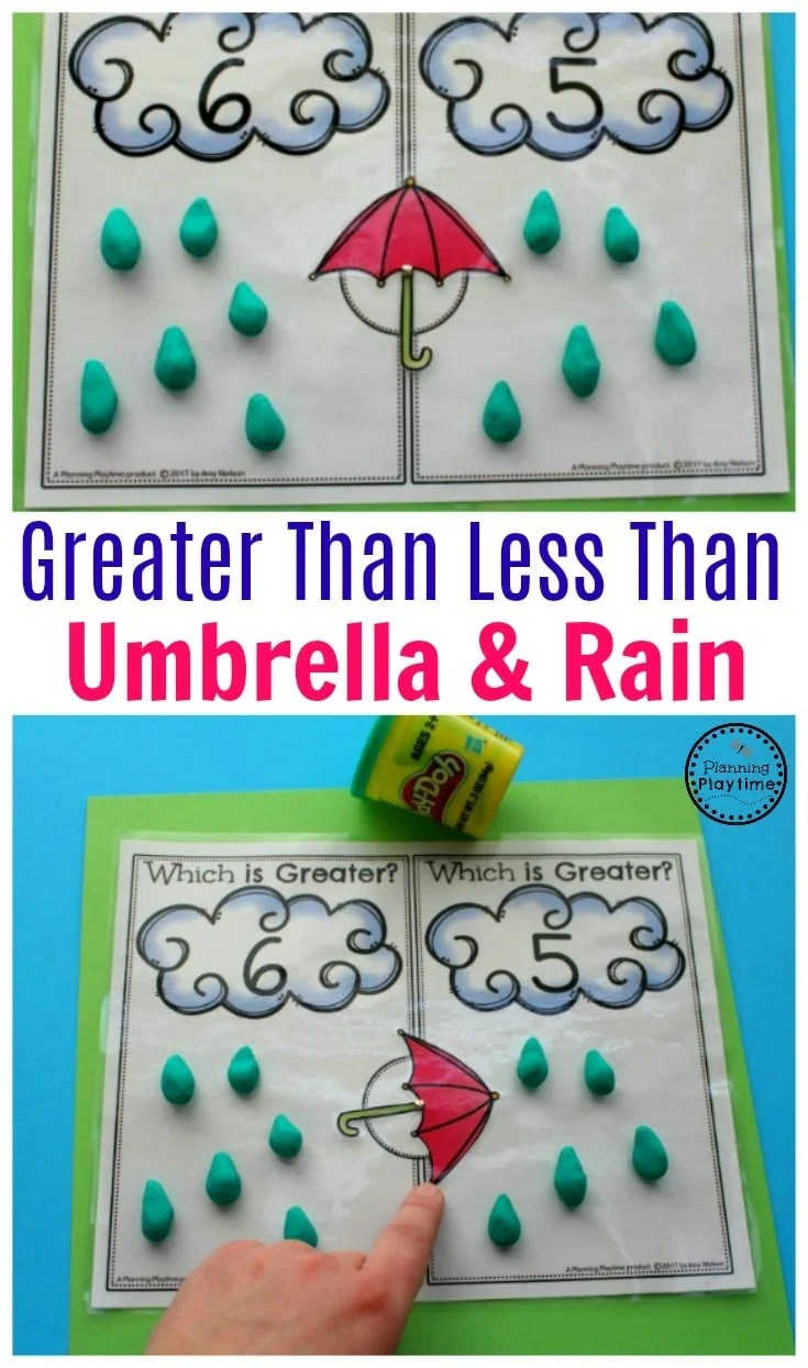 Greater Than Less Than Math Activity for Kindergarten.