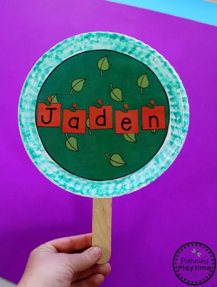 Apple Tree Name Craft for Preschool