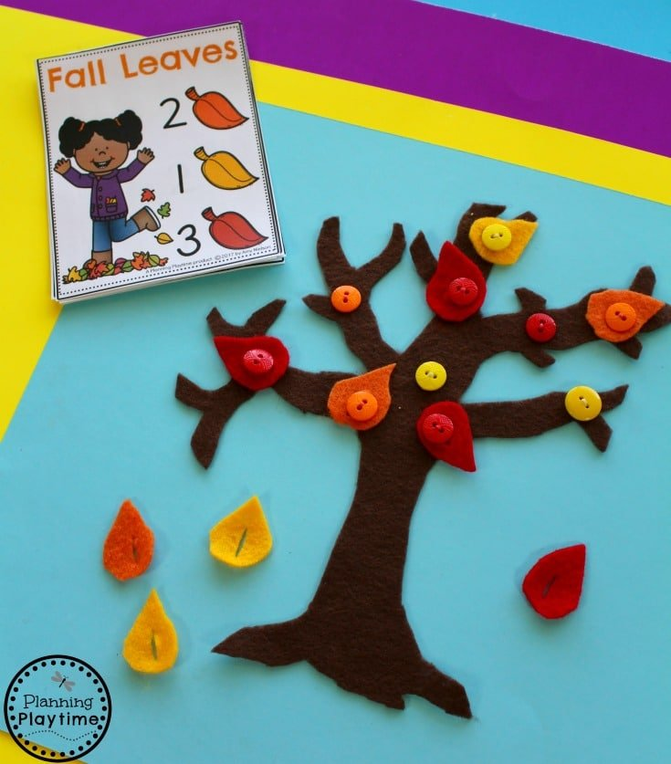 Felt Counting Tree - Fun Counting Activity for Preschool.