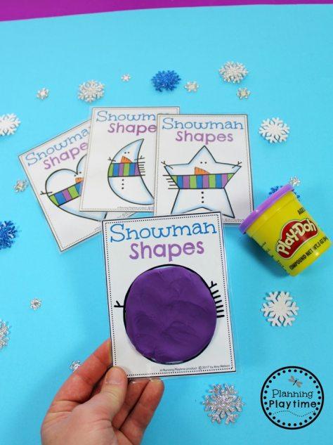 Preschool Shapes Activity for winter. So cute!!