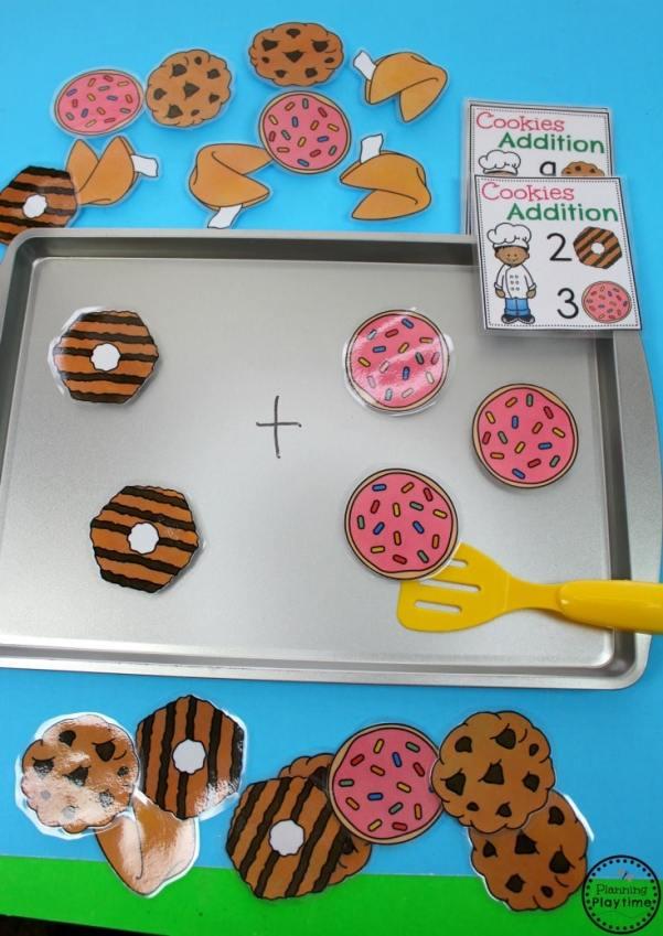 Cookie Addition Activity for Kindergarten