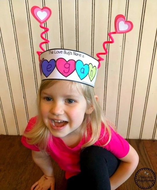 Valentines Day Love Bug Crown for kids