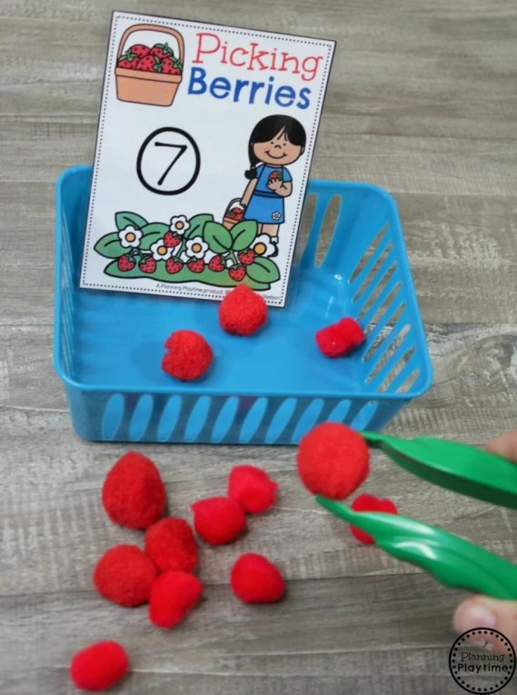 Preschool Farm Activities - Berry Picking Counting