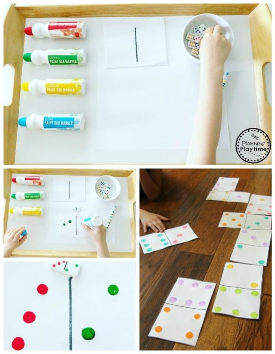 Dominoes Game for Kids - Make your own giant dominoes #dominoes #dominoesgame #mathgame #kindergarten #preschool