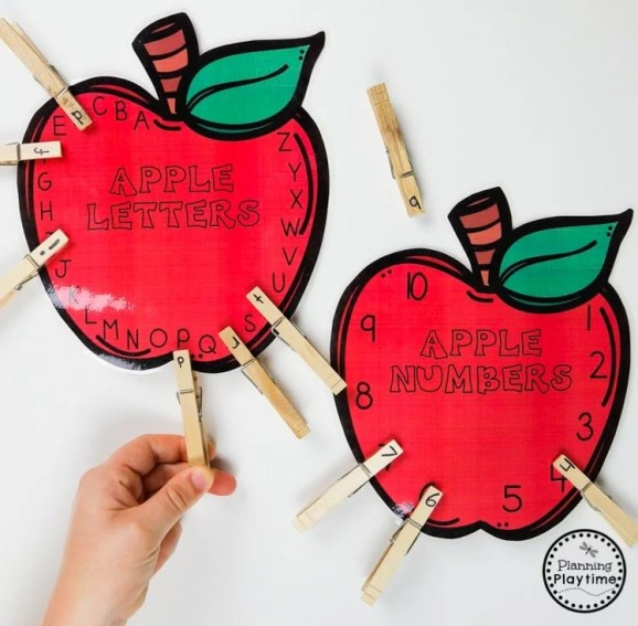 Apple Theme learning Activities for Preschool #preschool #preschoolworksheets #appletheme #appleworksheets #planningplaytime